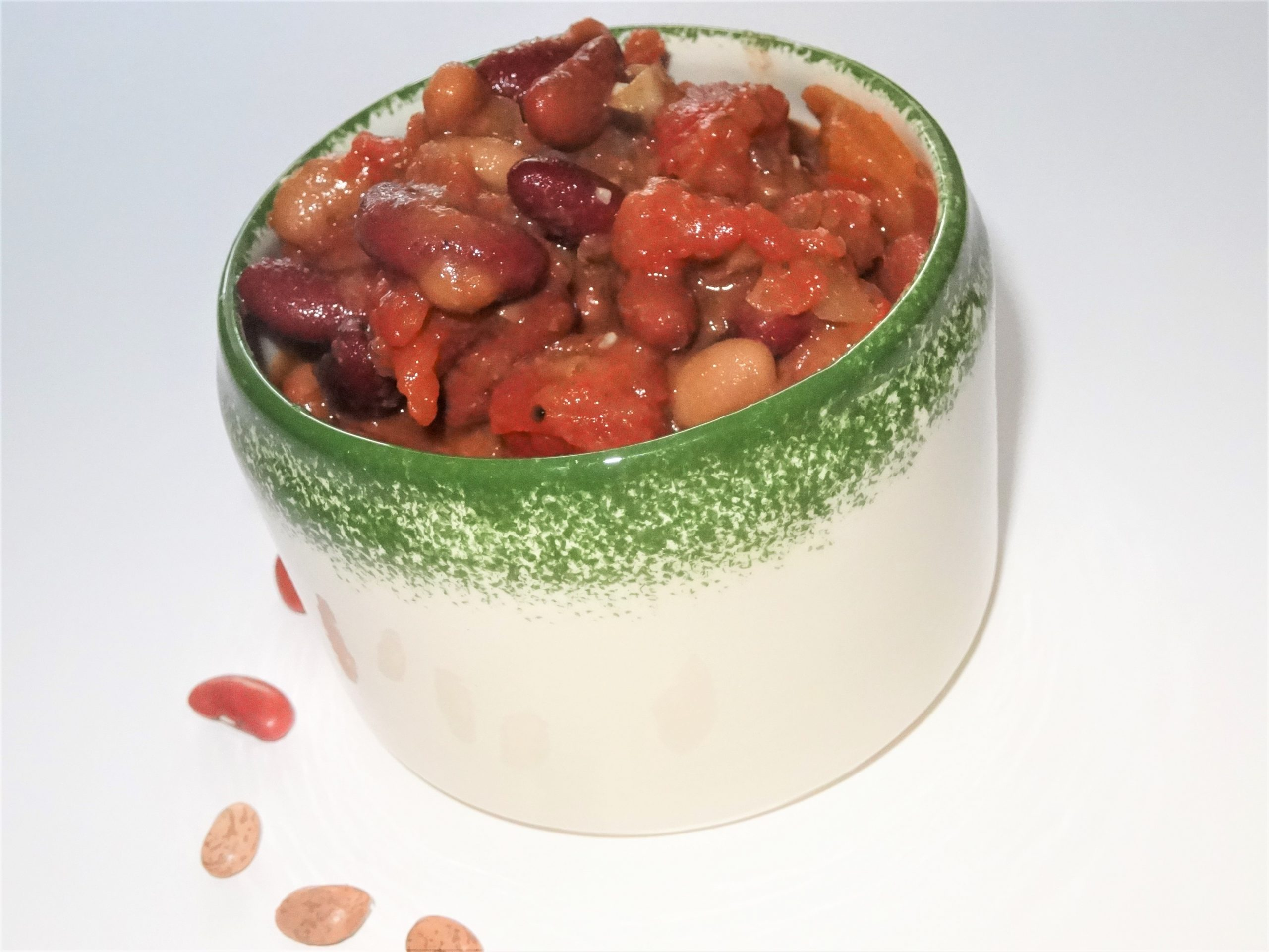 Beck's easy and healthy vegetarian chili recipe is easy to make and tastes even better left over than it does when he first makes it. I guess you could freeze it, but it never lasts long enough at our house to be frozen.