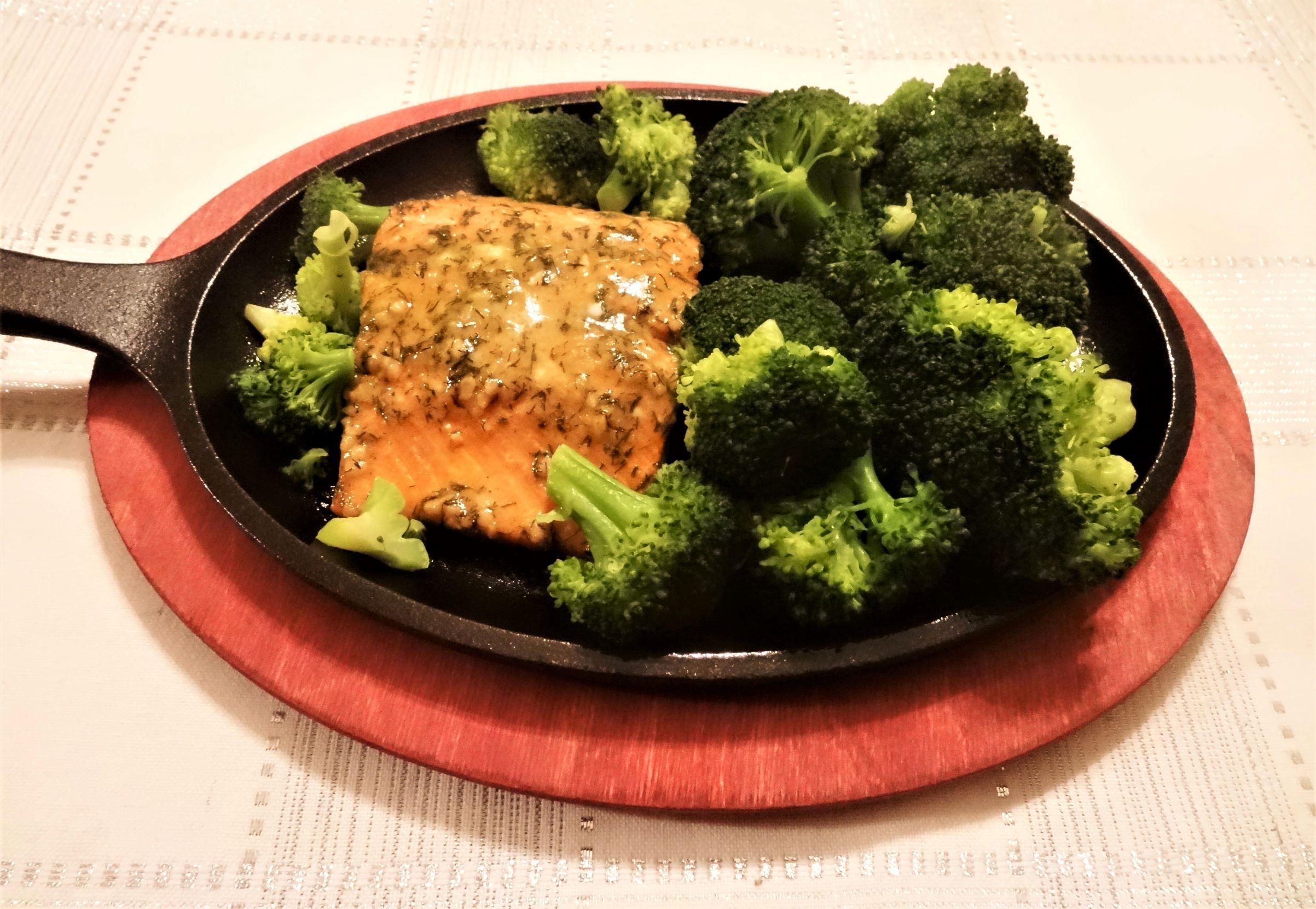 Becks Dijon and Dill Salmon
