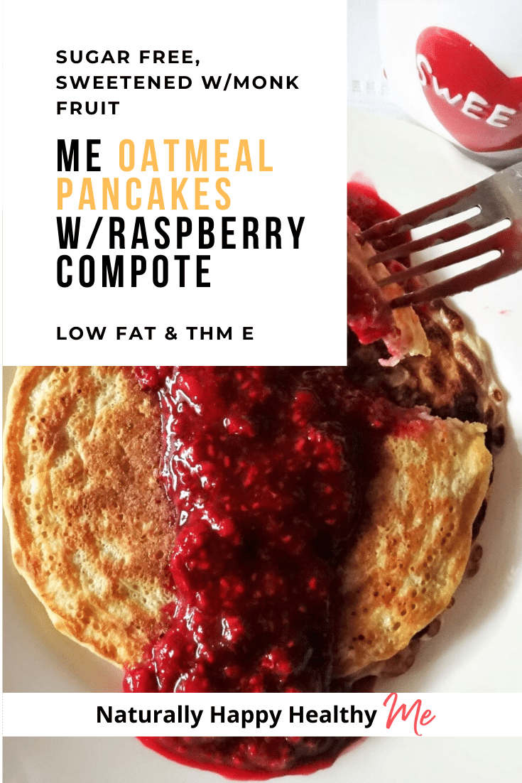 Me Oatmeal Pancakes with Raspberry Compote