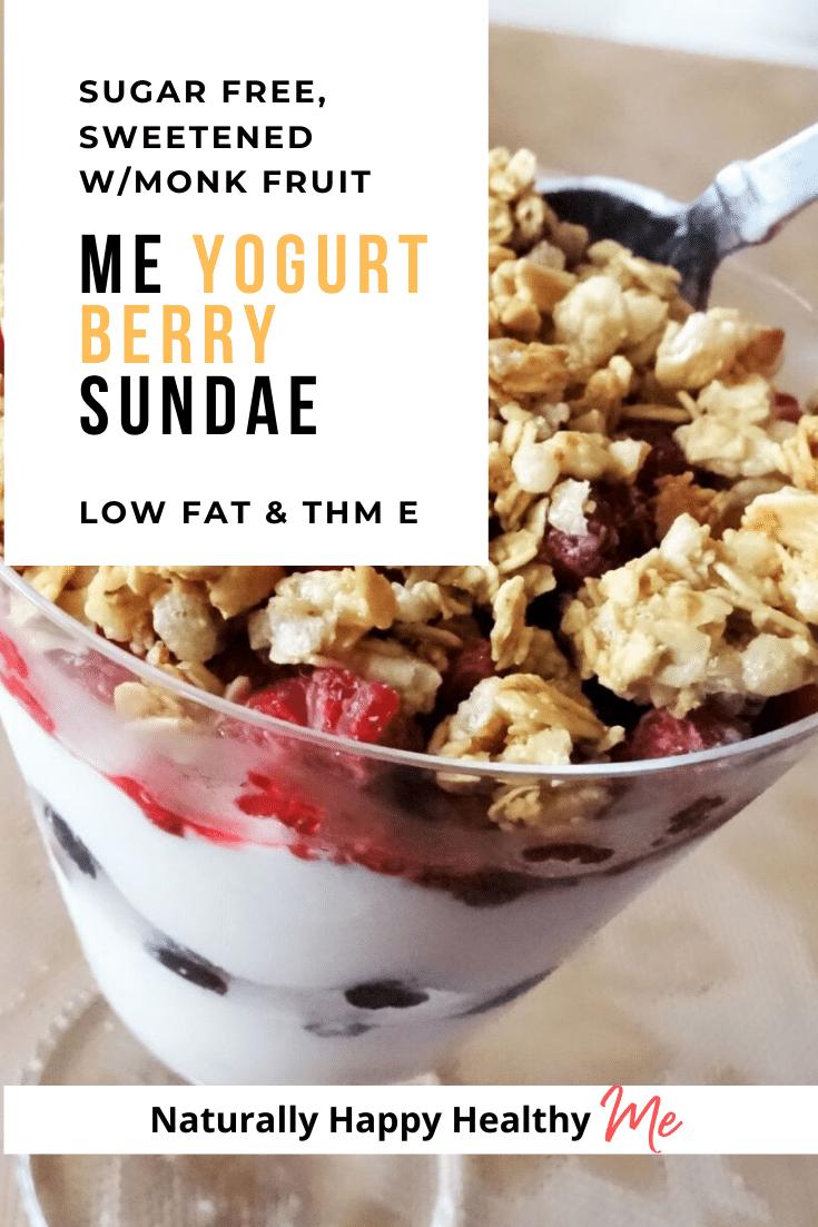 Me Yogurt Berry Sundae - Sweetened with Monk Fruit