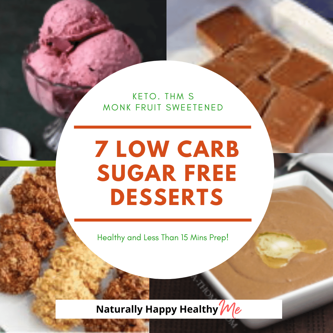 Check out these seven low carb / keto desserts that are easy to sweeten with monk fruit and require 15 mins or less prep!